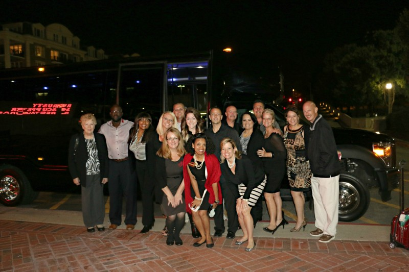 group in front of limo 1